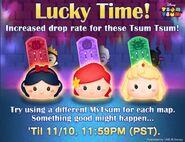 DisneyTsumTsum LuckyTime International SnowWhiteArielPrincessAurora LineAd 201611