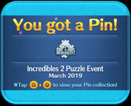 Incredibles 2 Puzzle Event pin GET!