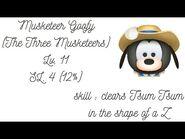 Line Disney Tsum Tsum - Musketeer Goofy - Lv.11 - SL