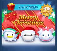 Disney Tsum Tsum - Lucky Time Holiday Baymax, Holiday Marie & Santa Donald Jap