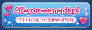 All-you-can-play! Nov19 banner