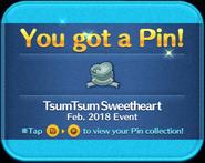 TsumTsum Sweetheart pin GET!