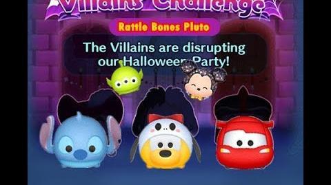 Disney Tsum Tsum - Rattle Bones Pluto (Disney Villains' Challenge - Captain Hook Map 6)