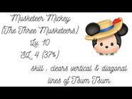 Line Disney Tsum Tsum - Musketeer Mickey - Lv.10 - SL