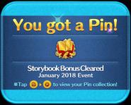 Storybook Bonus Cleared Pin GET!