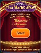 Genie's The Magic Show Start