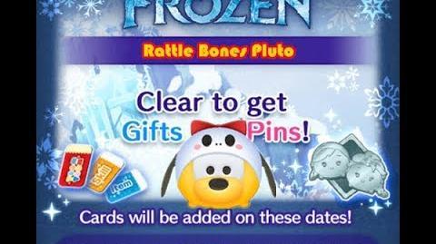 Disney Tsum Tsum - Rattle Bones Pluto (Frozen Event - Card 4 - 6)