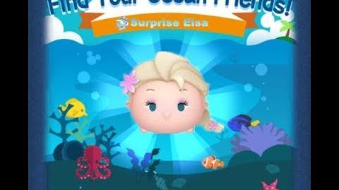 Disney Tsum Tsum - Surprise Elsa (Find Your Ocean Friends Event - Mission 30)
