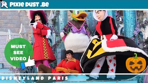 Disney Villain show featuring Donald as Maleficent at Disneyland Paris for Halloween 2018