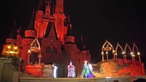 Bad weather version of Hocus Pocus Villain Spelltacular at Magic Kingdom
