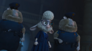 Bellwether tells the officer to get nick and judy