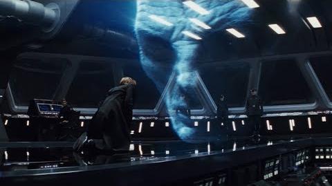 Hologram Snoke Humiliates Hux Scene