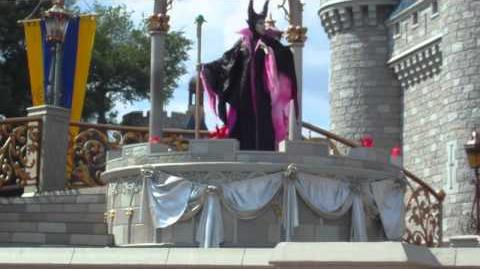 Maleficent takes over the Castle Stage!