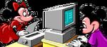 Mickey y Minnie (fun time print kit EGA-VGA)