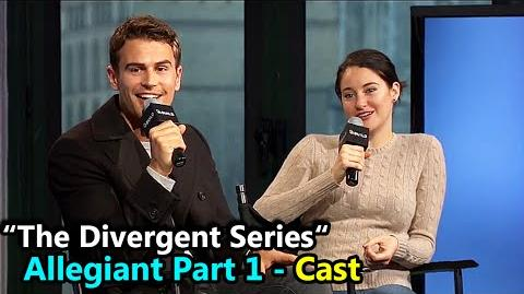 """The Divergent Series """"ALLEGIANT"""" Shailene Woodley & Theo James Interview March 14th, 2016"""