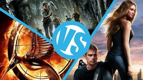 The Maze Runner VS Divergent VS Hunger Games Catching Fire Movie Feuds ep108