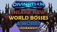 INSANE NEW WORLD BOSSES & MORE!! *New sick vote armor* + Event box opening! + Giveaway -Divination-