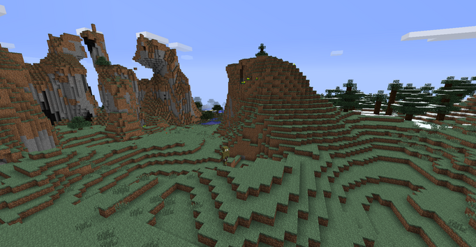 The Plains, Hill, Swamp and Snow biomes.