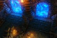 DOS Quest The Elemental Caves doors