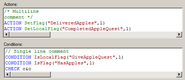 Dialog scripting syntax highlighting