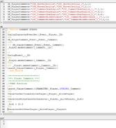 Story scripting syntax highlighting