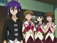 Episode 21 Girls squeal in front of Satoshi Hiwataris costume