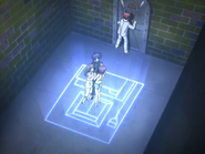 Episode 22 Daisuke stays in the SHoT world while Dark Riku and Risa leave