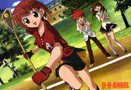 Riku playing lacrosse Daisuke and Risa cheering