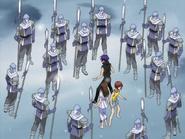 Episode 22 Soldiers surround Dark Risa and Riku