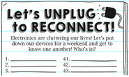 Let's Unplug to Reconnect