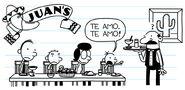Greg says te amo in spanish