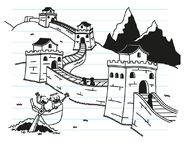 Greg and Rowley see The Great Wall of China
