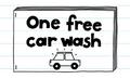 One free car wash