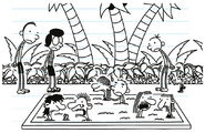 The Heffley Family see Rodrick and his girlfriend at Teen Zone