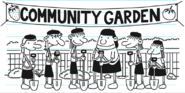Girl Scouts at Comunnity Garden