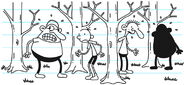 Greg and his cabinmates are lost in the wilderness