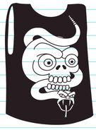 Rodrick's sleeveless shirt with snake and skull