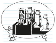 Rodrick is talking to Greg about the King and Queen