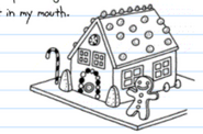Online Diary of a Wimpy Kid gingerbread house