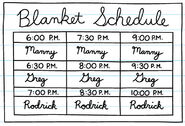 Blanket Schedule