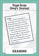 Page from Greg's Journal