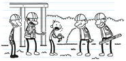 Greg asks the workers to find a right-hand hammer and turns out is a joke