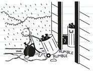 Greg sends the trash at Sunday night with rain