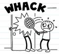 Rowley whacks Greg with a tennis racket