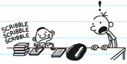 Greg is shocked to see Frew scribbles his homework