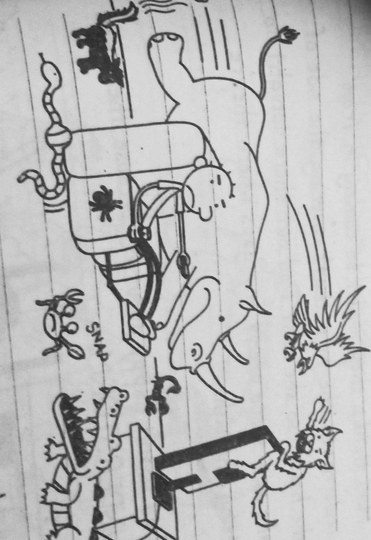 Rodrick's imaginary pets