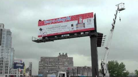 Diary of a Wimpy Kid Billboard in New York City