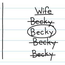 Greg's M.A.S.H. imagines his future wife Becky.jpg
