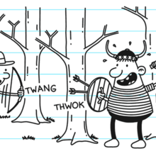Dad and Giles playing in the woods.png