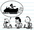 Greg tells Frank and Susan about the snowmobile he wanted